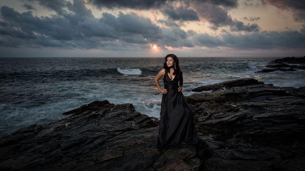 Juanita down by the seaside