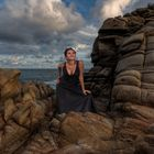 Juanita on the rocks