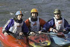Jude, Lorenz & Niels - am Ende eines geilen Paddeltages