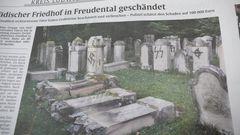 Jüdischer Friedhof Totenruhe zerstört