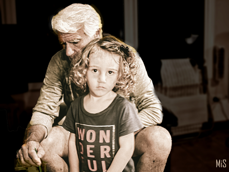Jugando con mi abuelo