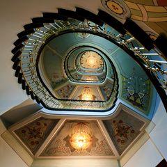 Jugendstil-Treppenaufgang in Riga