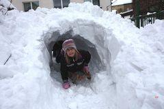JUHU - der Schneetunnel ist fertig