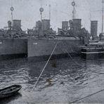Juli 1912 Torpedoboote auf dem Rhein
