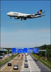 Jumbo im Landeanflug
