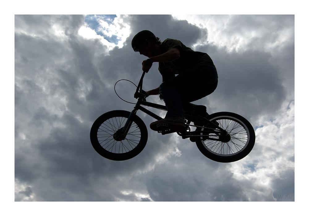jumping BMX shadow