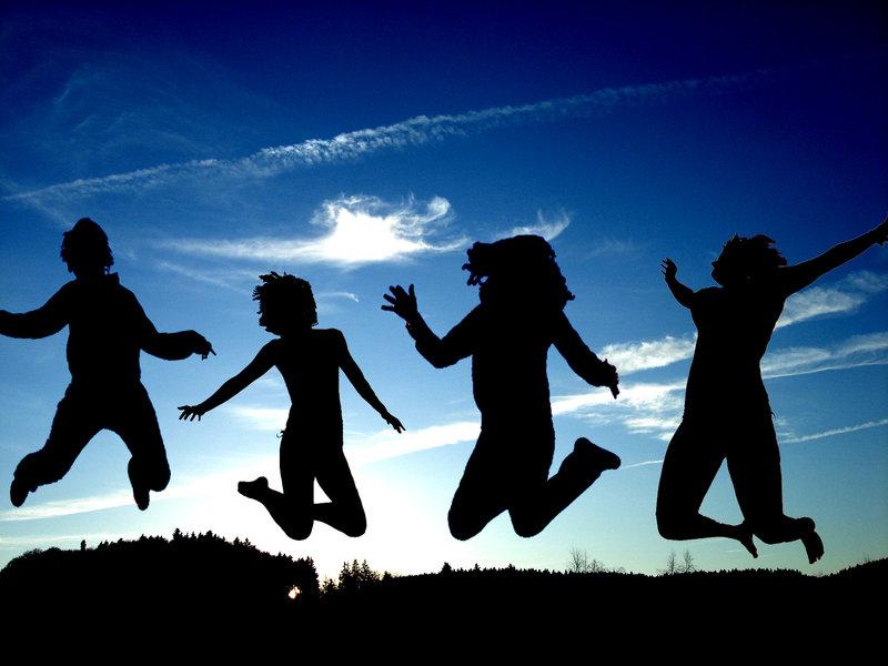 jumping friends