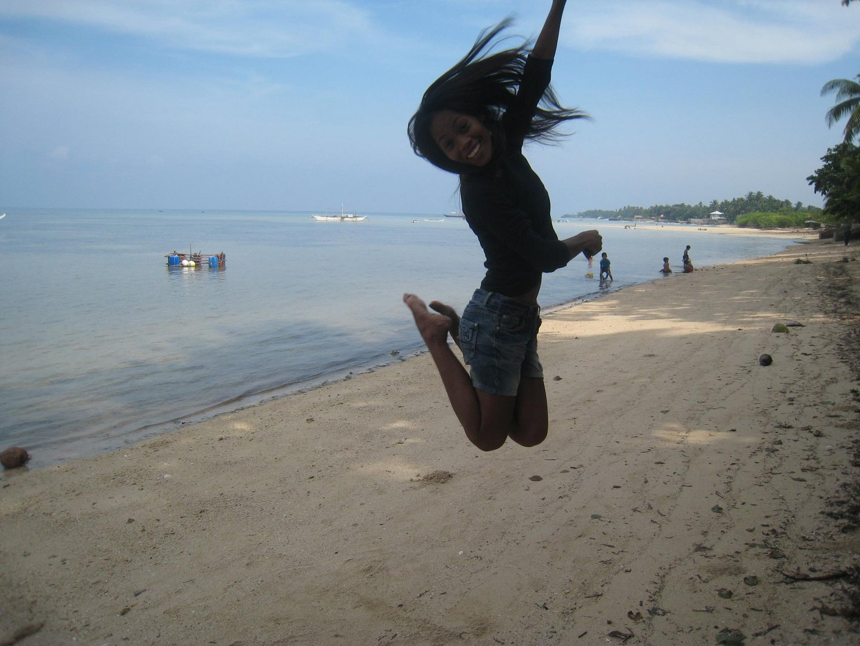 jumping over u