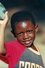 Junge aus Armutsviertel in Pretoria