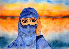 Junge Beduinenfrau