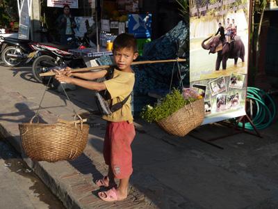 Junge in Luang Prabang