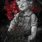 Junge mit Rosen
