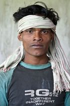 Junger Adivasi in Orissa