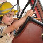 Junger Feuerwehrmann