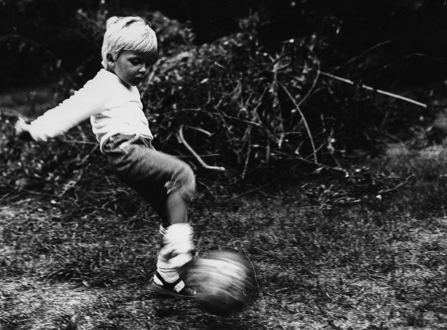 junger Fußball-Star
