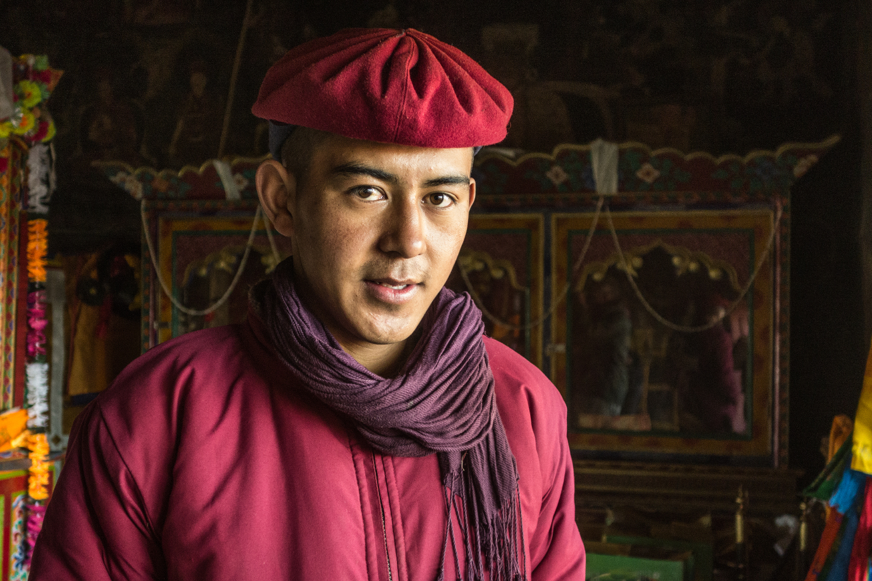 Junger Mönch, Kloster Shey, Ladakh/Indien