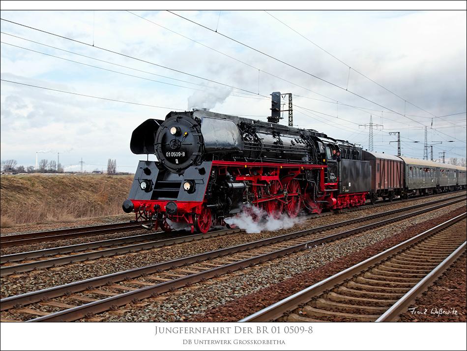 Jungfernfahrt der BR 01 0509-8