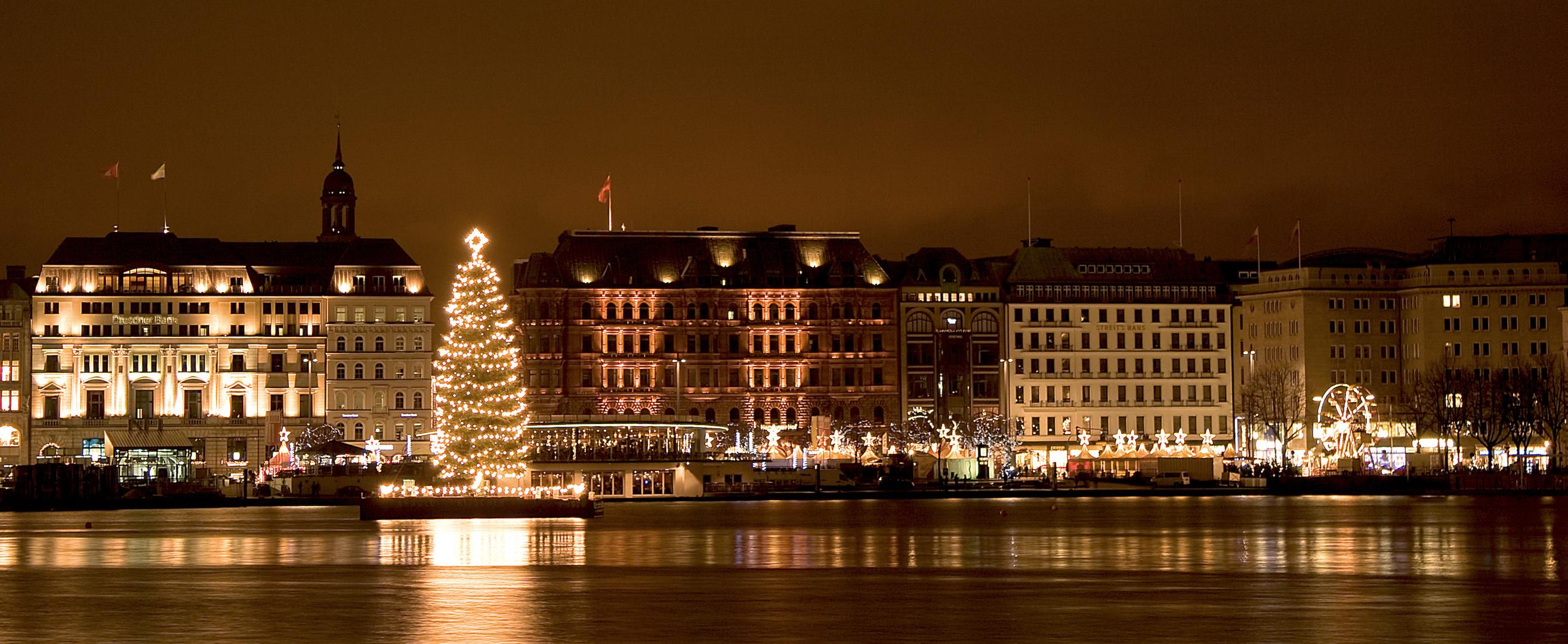 Jungfernstieg Weihnachtsmarkt.Jungfernstieg Mit Weihnachtsmarkt Foto Bild Deutschland