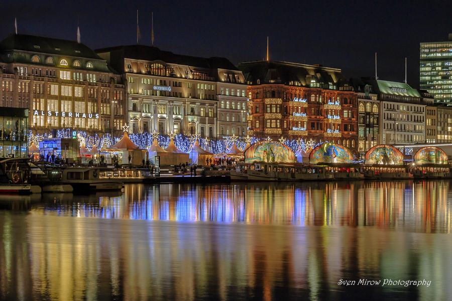 Jungfernstieg Weihnachtsmarkt.Jungfernstieg Mit Weihnachtsmarkt Foto Bild Architektur