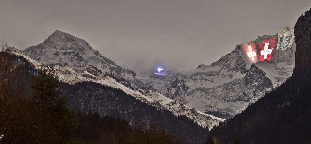 Jungfrau Beleuchtet