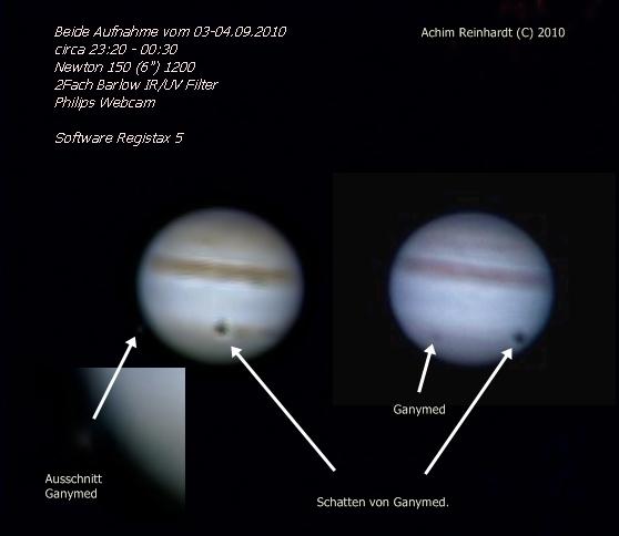 Jupiter und Mond Ganymed