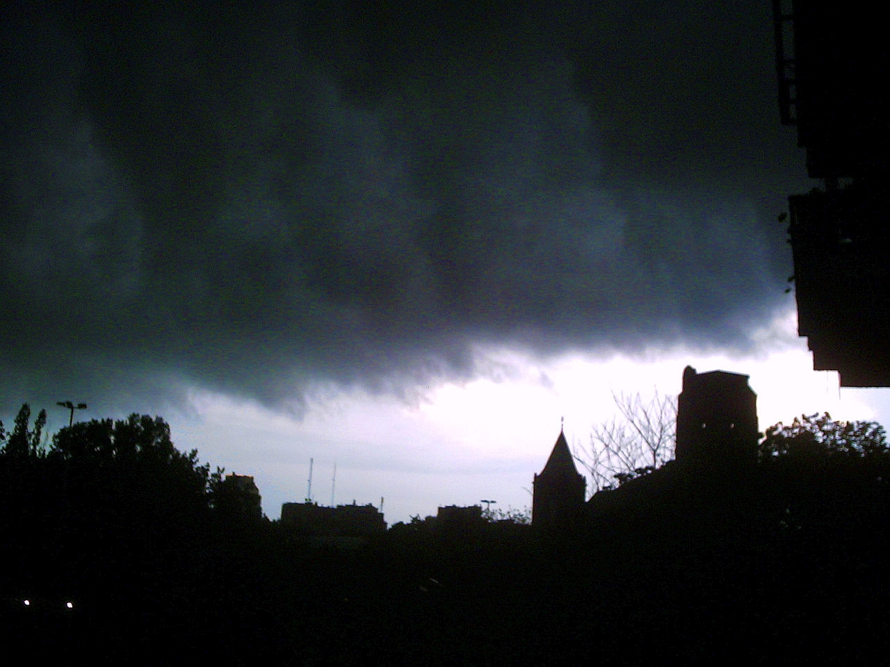 Just before a thunderstorm in Warsaw