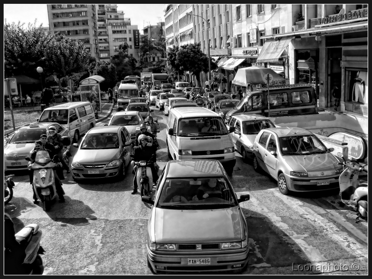 ...just on the street in the centre of Athens...