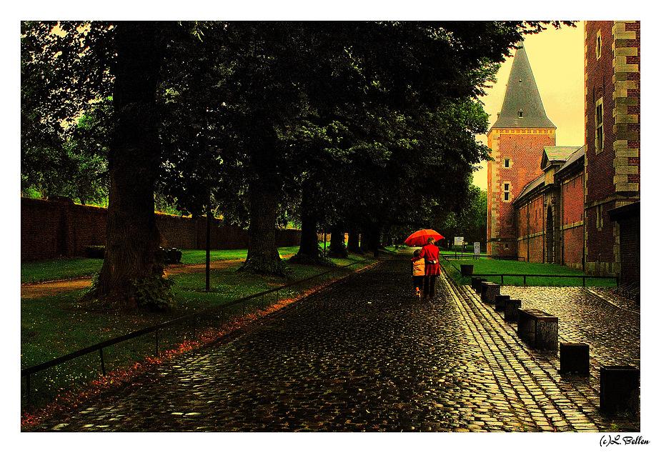 """ Just walking in the rain """