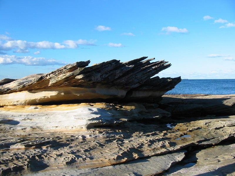 Jutting Coastal Rock