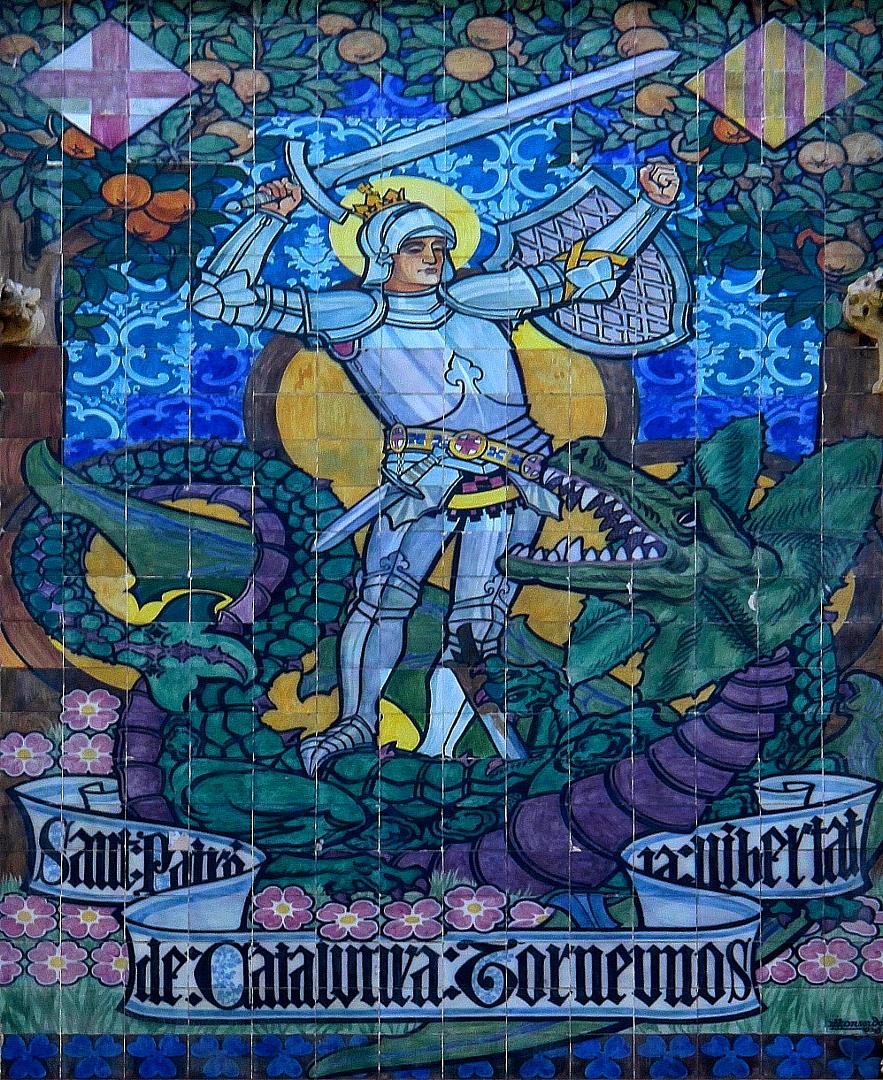 Kachel-Bild Georg, der Drachentöter