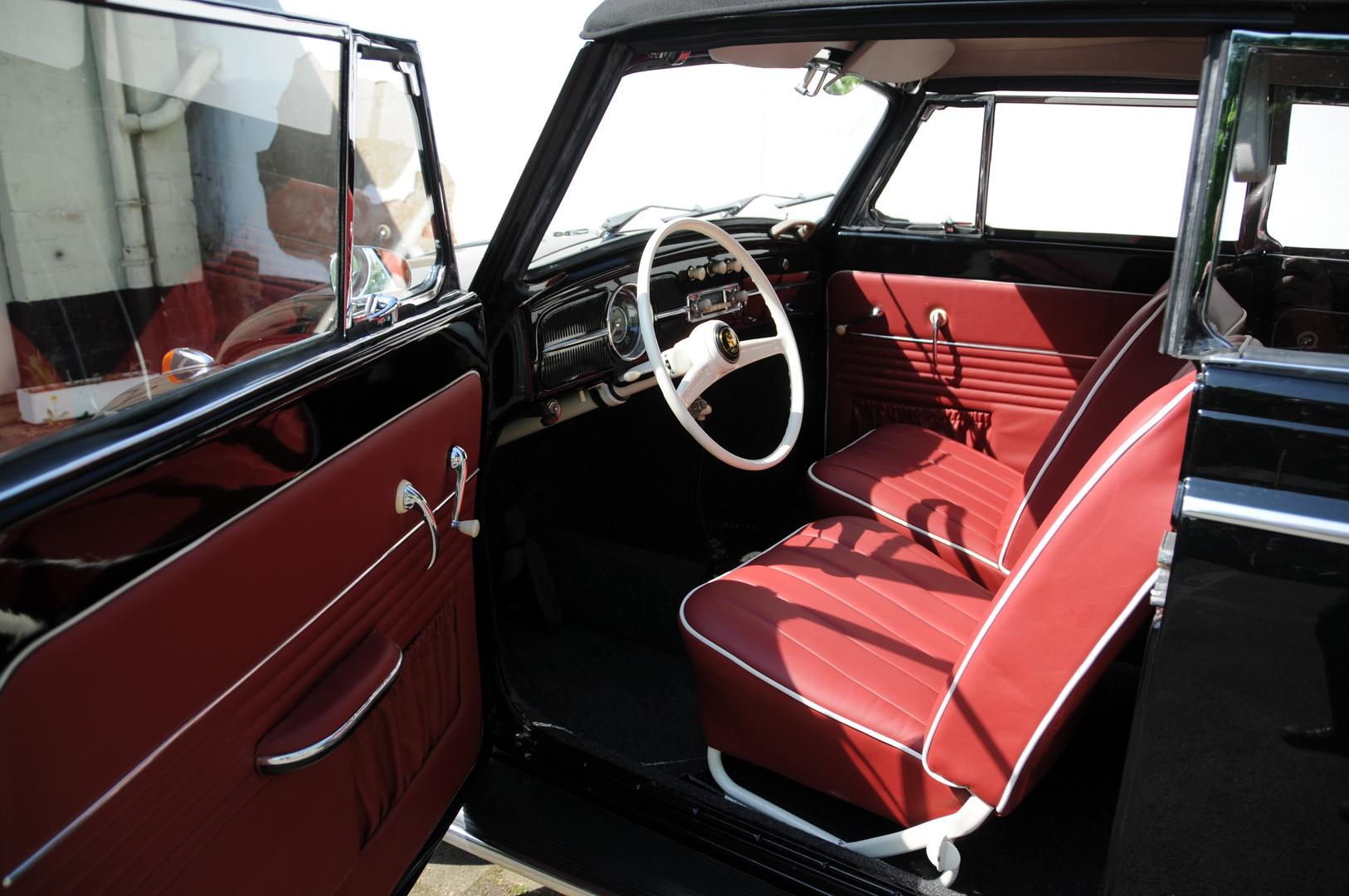 k fer cabrio 1958 von innen foto bild autos. Black Bedroom Furniture Sets. Home Design Ideas