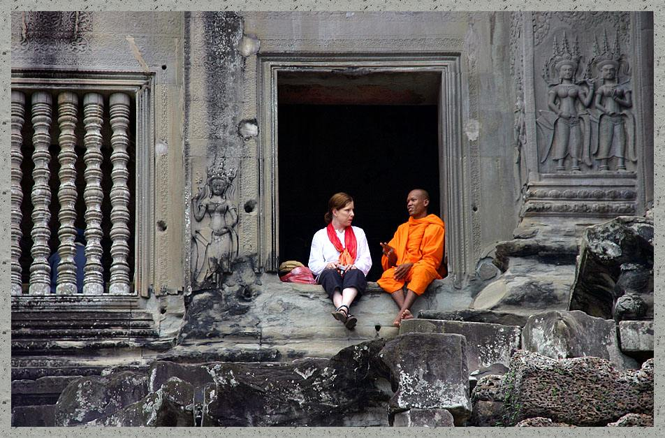 Käseweiss and coffeebrown............West meets East at Angkor Wat