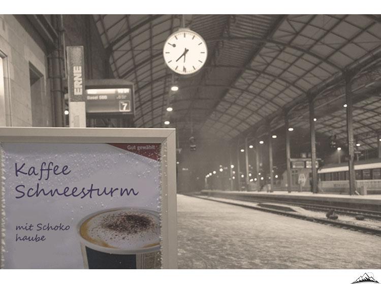 Kaffee Schneesturm