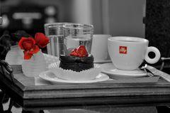Kaffee und etwas Süßes
