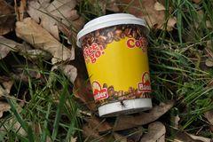 """Kaffeebecher: """"Coffee to go"""" mit Wolfsspinne"""