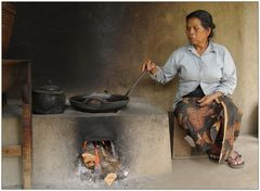 Kaffeeroesterin auf Bali