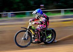 Kai Huckenbeck auf der Speedwaybahn Heidering Wittstock