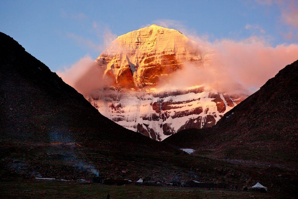 Kailash Sonnenaufgang von Goldi Goldmann
