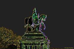 Kaiser-Wilhelm I, leuchtend