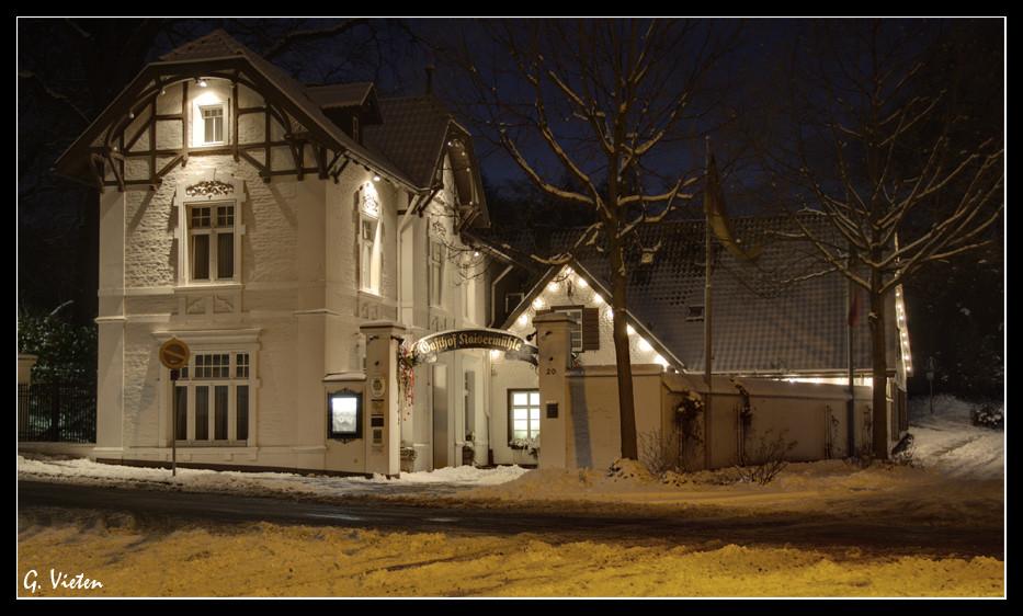 Kaisermühle bei Nacht