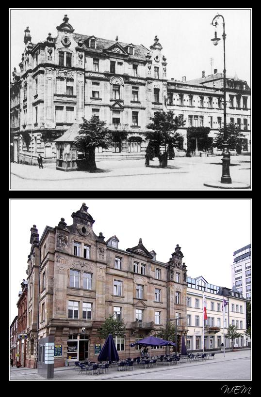 Kaiserslautern einst und heute - Bahnhofsvorplatz