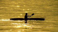 Kajak in der Abendsonne