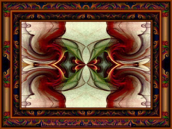 Kaleidoscop mit Rahmen 1