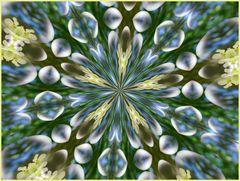 Kaleidoskop von einer hängenden Kerze