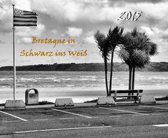 Kalender - Bretagne Schwarz und Weiß