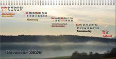 Kalenderblatt November 2020
