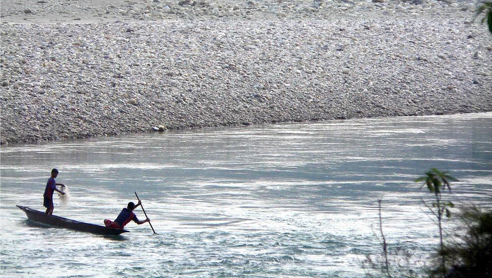 Kali Gandaki Fischer bei der Arbeit