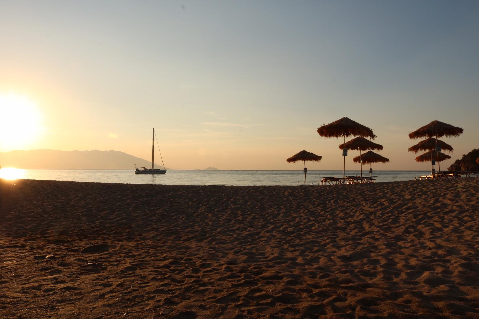 Kalimera Einen Wunderschönen Guten Morgen Aus Samos Foto