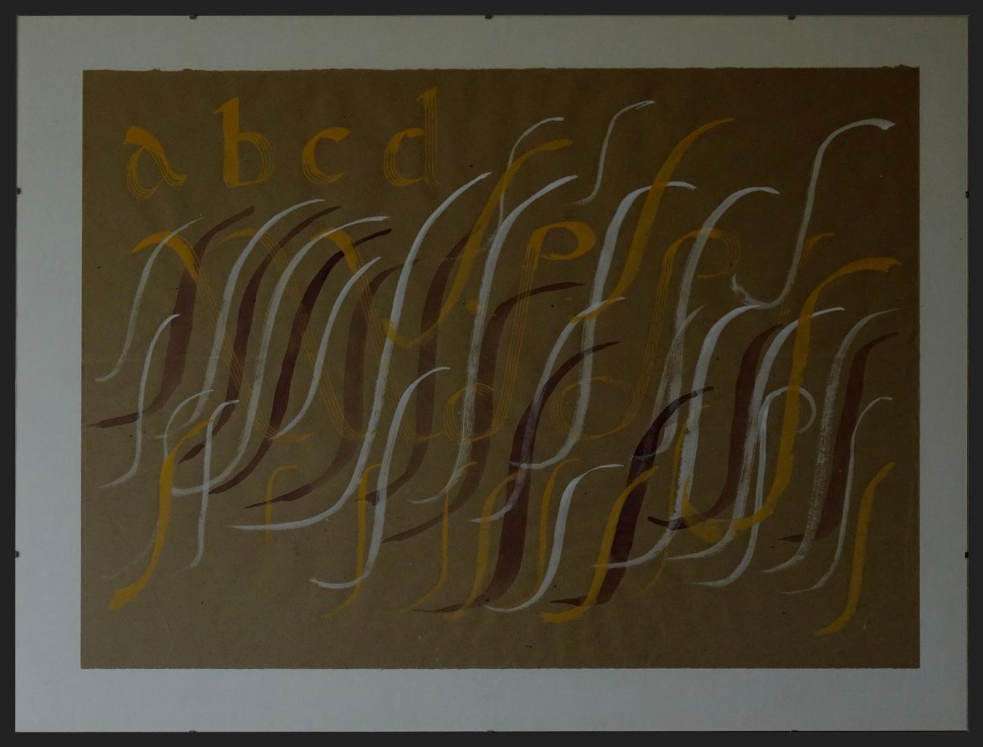 Kalligraphie im großen Stil ...