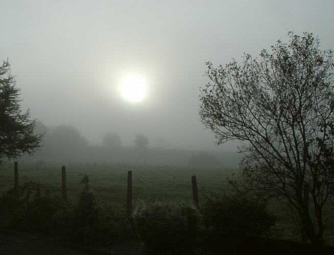 Kalter Morgen in Irland